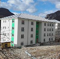 zgrada za izbjeglice u beranama